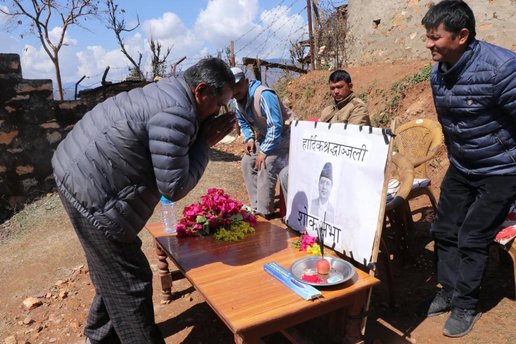 ताप्लेजुङ हेलिकप्टर दुर्घटनाका मृतकको स्मृतिमा दैलेखमा शोकसभा