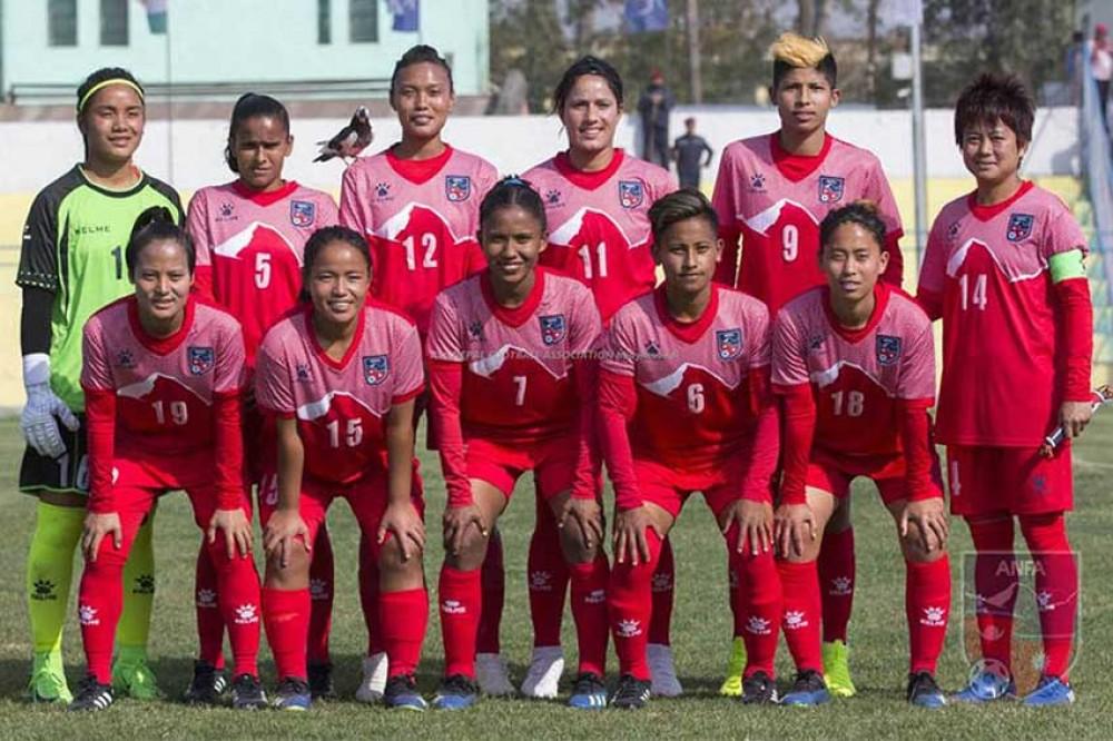 साफ च्याम्पियनसिप महिला फुटबलमा आज नेपालले श्रीलंकासँग खेल्ने