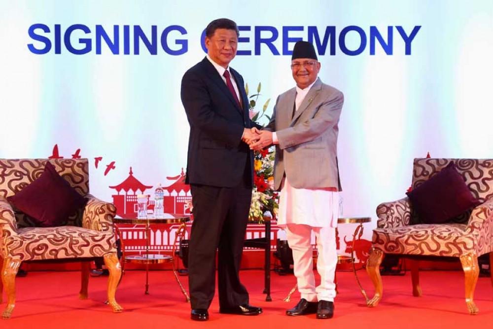 नेपाल–चीनबीच विभिन्न समझदारीपत्रमा हस्ताक्षर (वुँदा सहित)