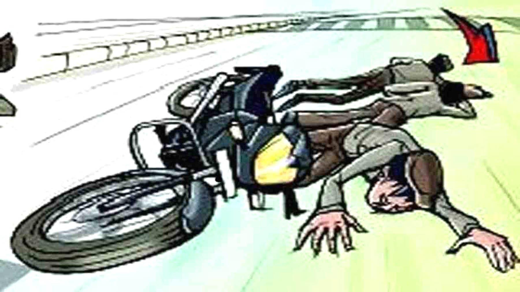 मोटरसाईकल दुर्घटनामा एक घाईते